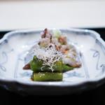 祇園 にしかわ - 太刀魚、 万願寺とうがらし 鬼おろし大根、青瓜、柴漬け