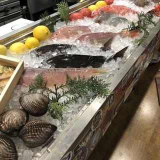 市場直送!!新鮮な魚介類を扱ってます