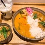 スープストックトーキョー - ぶどう山椒の麻婆カレー、夏野菜とムール貝のカレー、豚トロのビンダルーカレー