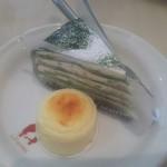 111146965 - 抹茶ミルフィーユとチーズオムレット