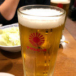 鳥の巣 - アサヒ生ビール(メガジョッキ/900円)