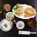 やぐら - 料理写真:アジフライランチ 800円