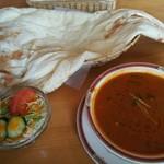 チャハナ - 料理写真:スルワランチ(私は5辛で汗ダラダラ)  メニューにはスープカレー風と説明されています