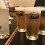 鳥昇 - レモンサワーと生ビール