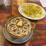 印度屋キッチン・ダバ - 料理写真:ダールフライ、ジーラライス