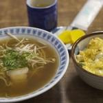 土手嘉 - 親子丼とラーメンのセット