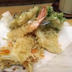 天鈴 - ・「定食(¥800)」のアップ裏。