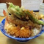 天鈴 - ・「天丼(¥850)」の裏。