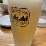 金太郎らーめん - 生ビール(中)♡¥500(税込)