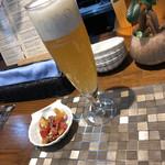 泡のお酒と貝料理のお店 泡貝 - ビール