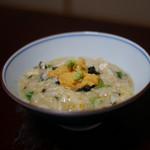 淡路島 さと味 - ☆雑炊にも由良ウニを乗せました♪最高です☆