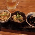 むすび食堂 - おばんざい3種盛り