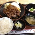 11117253 - 牛の焼き肉定食:900円(ライス小盛で50円引き)