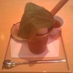 茶房 叶 匠寿庵 - 黒ごまパフェが