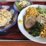 みそ膳 - 料理写真:冷やし中華+ミニチャーハンセット