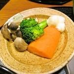 手造りハンバーグの店 - ヒレ丼のお野菜