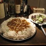 11118636 - すりおろし野菜のチキンカレー チャレンジ盛り(580円+1000円)