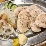 大衆とり酒場 天てん - ちょい飲みセット¥1000(税込)の鶏ハム