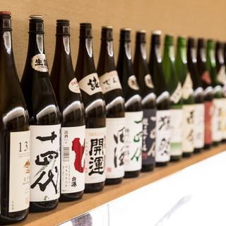 日本酒25種類!全国から厳選した日本酒を多数取り揃え!