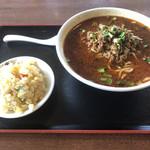 福園 - 黒胡麻坦々麺セット