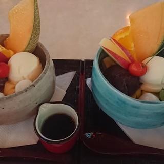 喫茶マンボ - 料理写真:クリームあんみつ