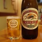 華楽園 - ビールはキリンとアサヒが選べます  キリンはクラッシックラガー