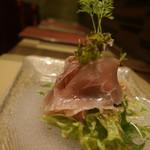 牡蠣とお肉とクラフトビール 菜の雫 - 生ハムのサラダ