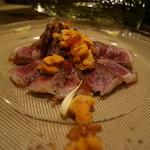 牡蠣とお肉とクラフトビール 菜の雫 - 雲丹と和牛