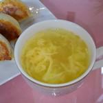 福龍餃子館 - スープ