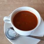キッチン 大宮 - セットのスープ
