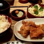 麻布茶房 - 茶房特製チキン南蛮定食 980円 (五穀米、サラダ、新香、味噌汁付)
