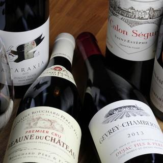 厳選を重ねたワインは常時20種以上◆お食事とご一緒に◎