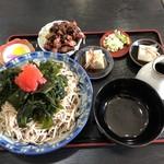 そば処 三喜庵 - 料理写真:紅富士セット(ランパス)