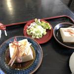 そば処 三喜庵 - 豆腐&薬味