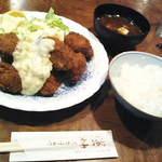 レストラン艸葉 - かきフライ定食(1,690円)