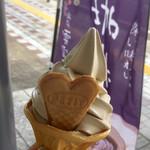 越後川口SA上り線スナックコーナー - 雪室珈琲ソフトクリーム