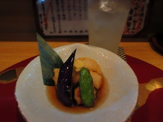 旬楽処 笑 - 晩酌せっとのハモと夏野菜の天ぷら