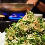 Soba&Co. - 野菜は山盛りカイワレとミョウガとか