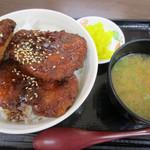 香芝SA上り フードコート - 料理写真:赤赤鶏のソースカツ丼(780円)