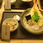 饂飩 四國 - 天ぷら定食の見本