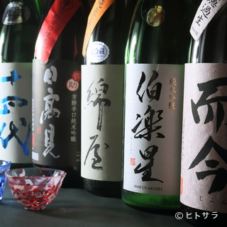 料理に合う日本酒との新たな出会いも楽しみのひとつ