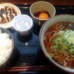 111252893 - 朝そば定食¥480(ライス大無料)・コロッケ¥100