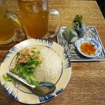 Choppusuthikkusu - セットの鶏飯(ハーフ)と蓮花茶
