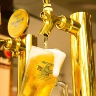 生ビールもOKな単品飲み放題が1500円で楽しめる!