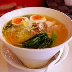 らぁ麺トラットリア ドゥエイタリアン - 塩スペシャルらぁ麺(1000円)