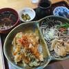 みなとや - 料理写真:アベック丼(天丼・冷かし)980円(税込)お蕎麦大盛 50円