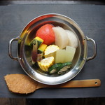 夏野菜の冷やしおでん ー五味醤油の味噌ディップー