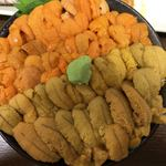 ichibashokudouajidokorotakeda - 旬の生ウニ食比べ丼