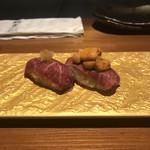 sousakuteppankonamonotoukyou - 和牛の肉寿司。             美味し。