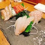魚と日本酒 魚バカ一代 - お刺身4種